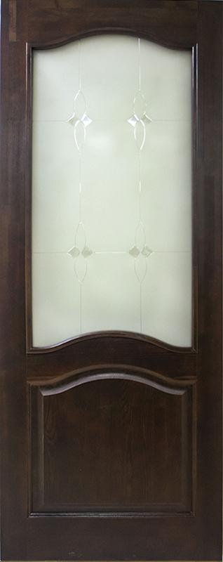 Тёмный лак + стекло Мателюкс