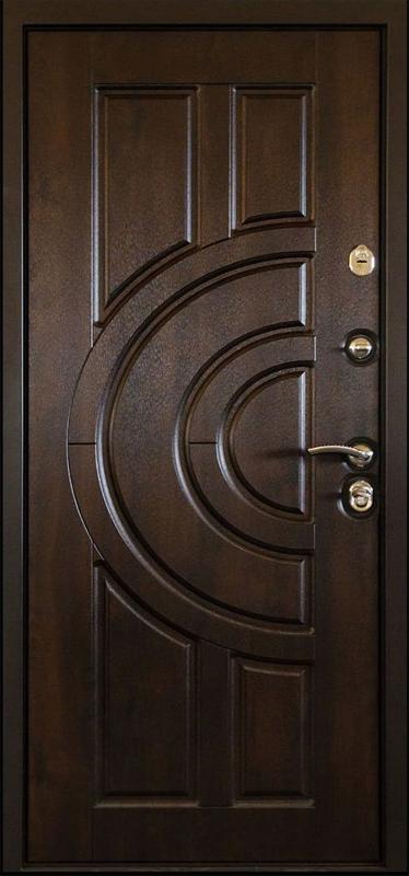 Дверь металлическая с кованными элементами (внутр. вид)