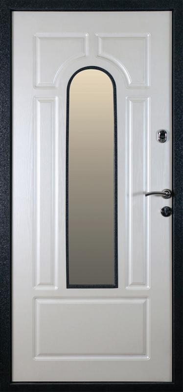 Дверь металлическая с кованными элементами Африка черная (внутр. вид)
