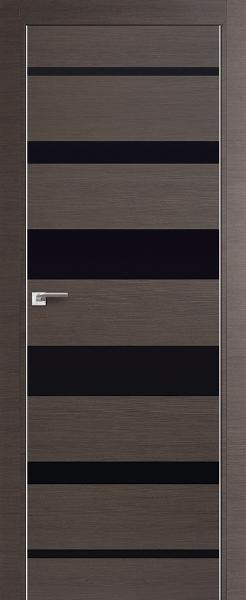 Дверь 18Z Грей Кроскут, Черный глянец