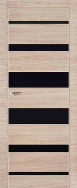 Дверь 18Z Капучино Кроскут, Черный глянец