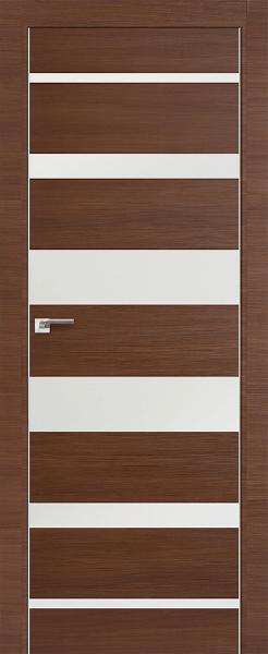 Дверь 18Z Малага Черри Кроскут, Белый глянец