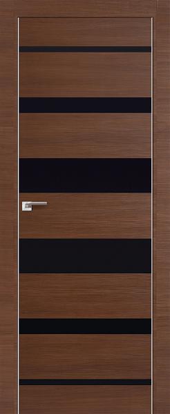 Дверь 18Z Малага Черри Кроскут, Черный глянец