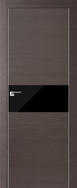 Дверь 4Z Грей Кроскут Черный лак
