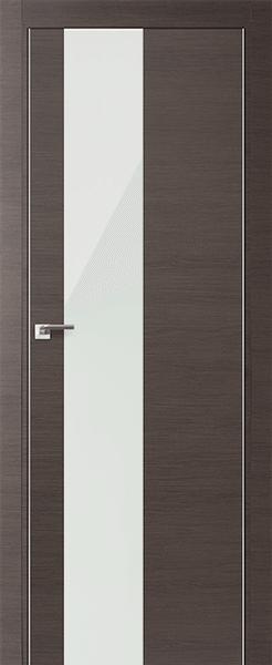 Дверь 5Z Грей Кроскут Белый Лак - копия