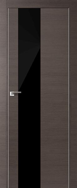 Дверь 5Z Грей Кроскут Черный Лак