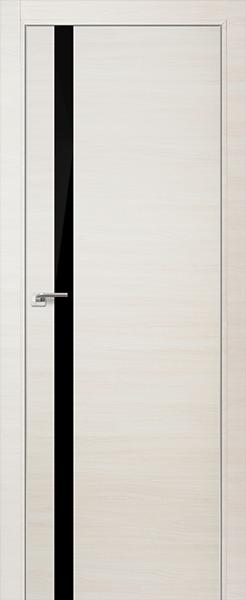 Дверь 6Z ЭшВайт Кроскут Черный Лак