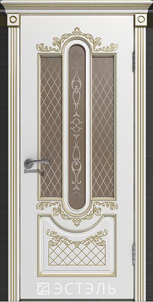 Александрия ДО, белая эмаль, патина золото, стекло бронза