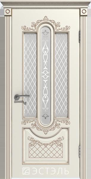 Александрия ДО, слоновая кость, патина капучинно, стекло белое