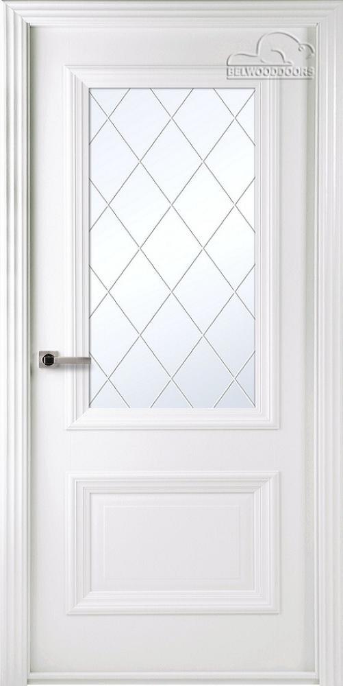 Франческа Эмаль, ДО, Белый, наличник Стандарт, Мателюкс белый витражный, рис. 37