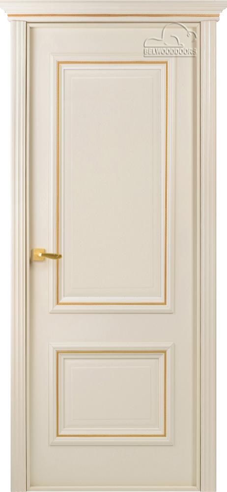 Франческа Эмаль, ДГ, Слоновая кость-резной декор-мет.золото, наличник Карниз