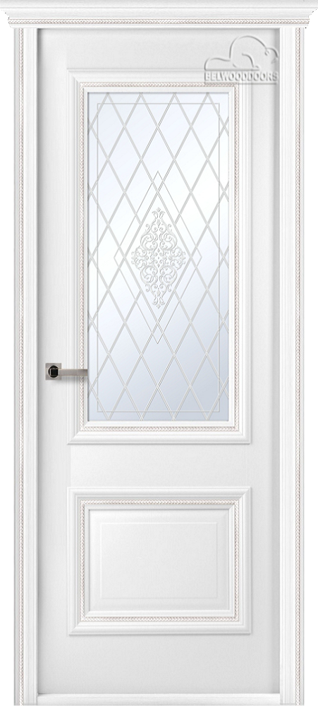 Франческа Винтаж, ДО, Белый, наличник Карниз, Мателюкс белый кристалайз, рис. 34