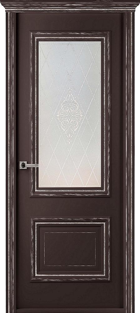 Франческа Винтаж, ДО, Шоколад, наличник Карниз, Мателюкс белый кристалайз, рис. 34