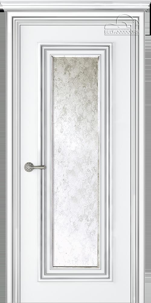 Палаццо 1, ДГ, Белый-Патина/серебро с зеркалом Mirold Morena