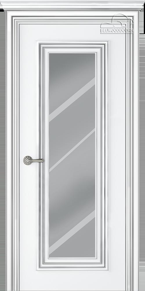 Палаццо 1, ДГ, Белый-Патина/серебро с зеркалом