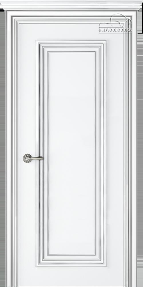 Палаццо 1, ДГ, Белый-Патина/серебро