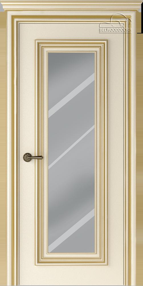 Палаццо 1, ДГ, Слоновая кость/Патина золото с зеркалом