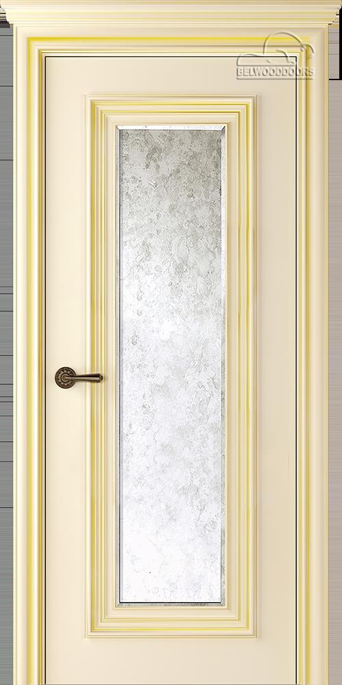 Палаццо 1, ДГ, Слоновая кость/Патина золото с зеркалом Mirold Morena