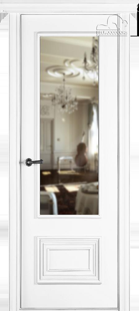 Палаццо 2, ДГ, белый с зеркалом