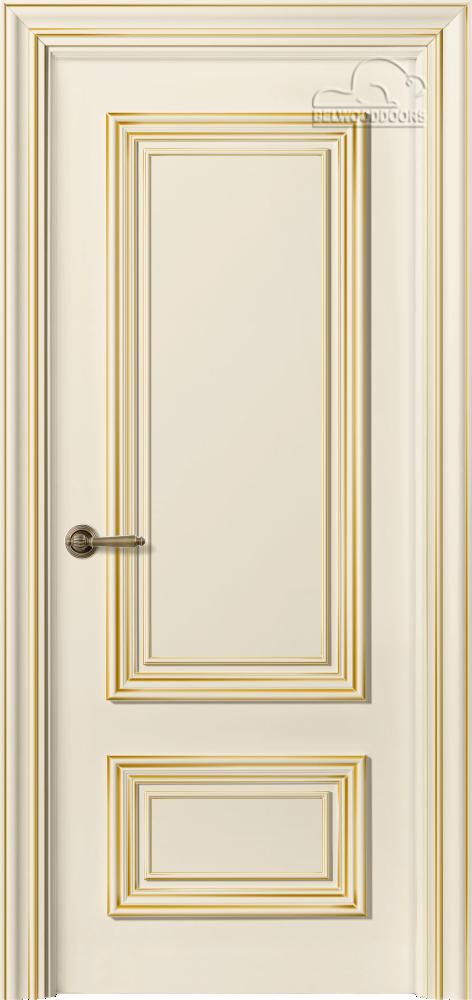 Палаццо 2, ДГ, слоновая кость - резной декор - мет. золото