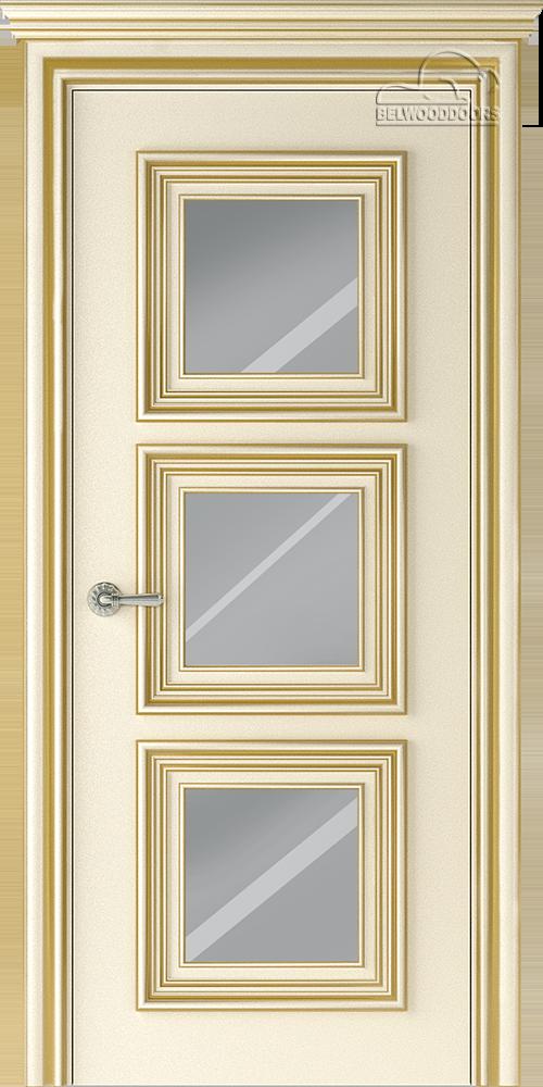 Палаццо 3, ДГ, слоновая кость-патина золото с зеркалом