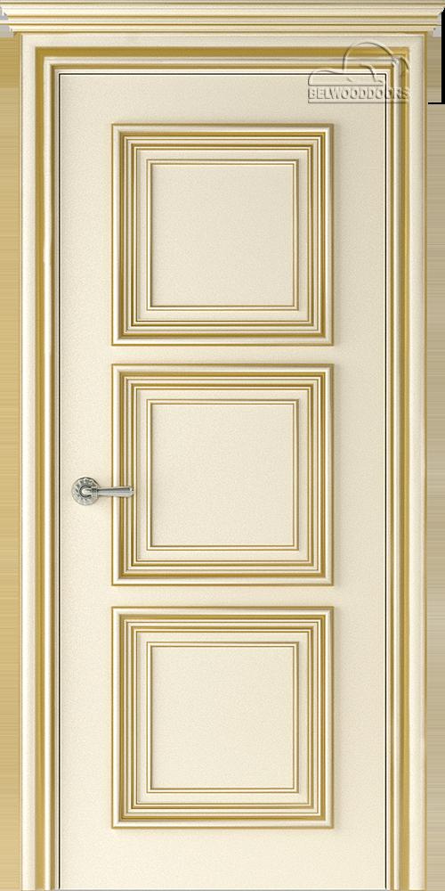 Палаццо 3, ДГ, слоновая кость-патина золото