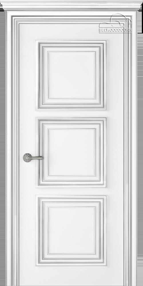 Палаццо 3, ДГ, Белый-патина серебро