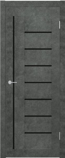 ST 3 бетон тёмный Lacobel чёрный лак