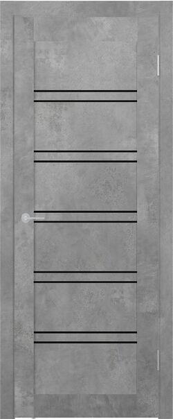 ST 5 бетон светлый Lacobel чёрный лак