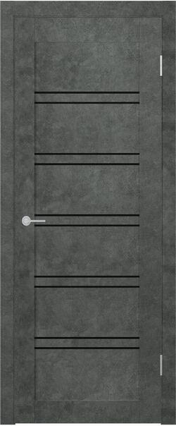 ST 5 бетон тёмный Lacobel чёрный лак