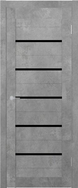 ST1 бетон светлый стекло Lacobel чёрный лак