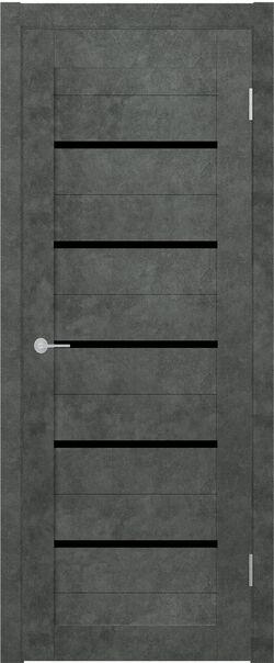 ST1 бетон тёмный стекло Lacobel чёрный лак