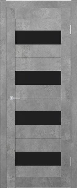 ST2 ДО бетон светлый стекло Lacobel чёрный лак