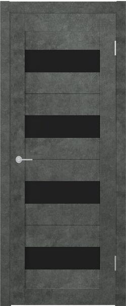 ST2 ДО бетон тёмный стекло Lacobel чёрный лак
