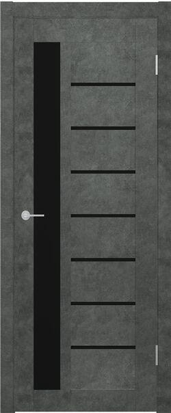 ST4 бетон тёмный Lacobel чёрный лак
