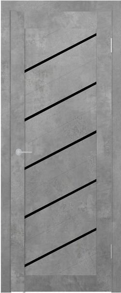 ST7 бетон светлый Lacobel черный лак