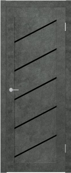 ST7 бетон тёмный Lacobel черный лак