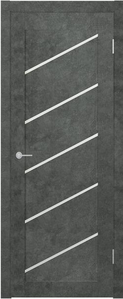 ST7 бетон тёмный стекло матовое Мателюкс