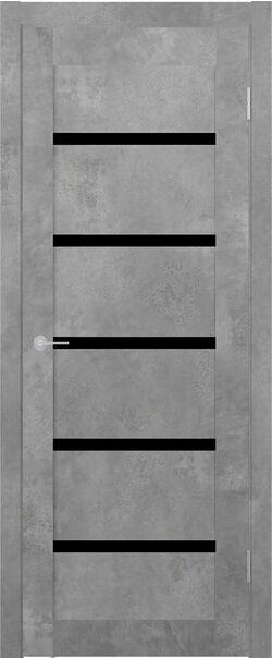 ST8 бетон светлый стекло Lacobel черный лак