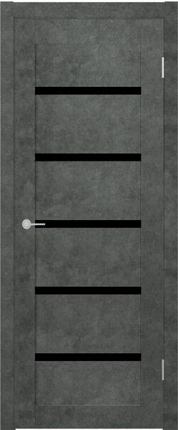 ST8 бетон тёмный стекло Lacobel черный лак