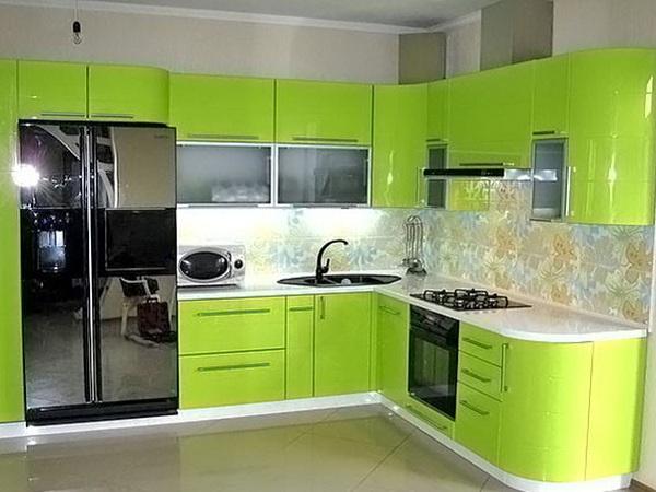 Кухня из крашеного МДФ 4
