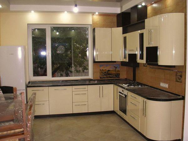 Кухня из крашеного МДФ 5
